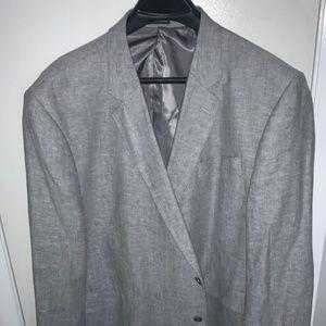 Gray suit coat